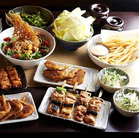町田の焼き鳥が美味しい居酒屋[とりいちず]の女子会コース